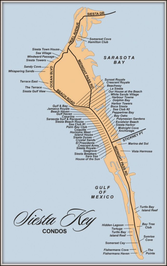 Map Of Siesta Key Florida Condos - Siesta Key Beach Florida Map