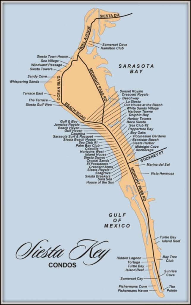 Map Of Siesta Key Florida Condos - Siesta Key Florida Map