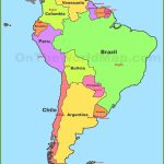 Map Of South America With Countries And Capitals   Printable Map Of South America With Countries