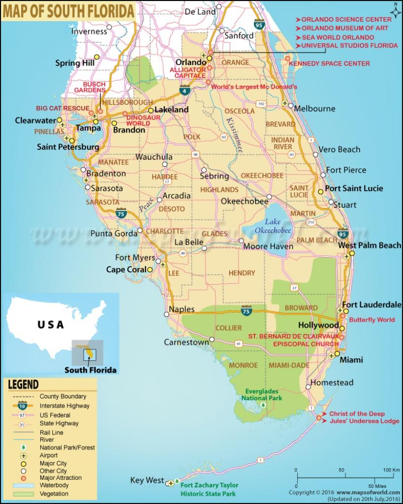 Map Of South Florida, South Florida Map - Map Of Florida West Coast Towns