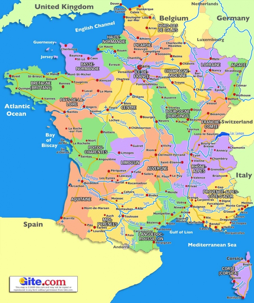 Map Of South France   2020 Travel In 2019   France Map, France - Printable Map Of France With Cities And Towns