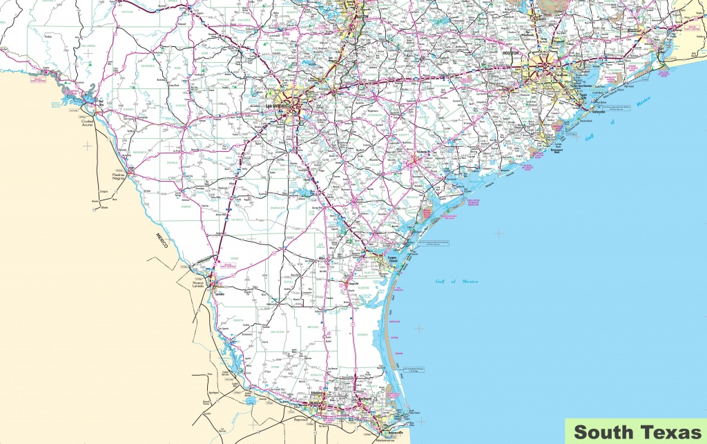 Map Of South Texas - South Texas Road Map