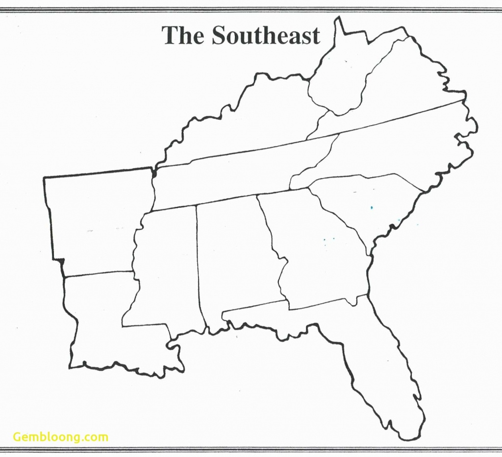 Map Of Southeast Printable Blank Us Road Southeastern Lovely The - Printable Map Of Southeast Us