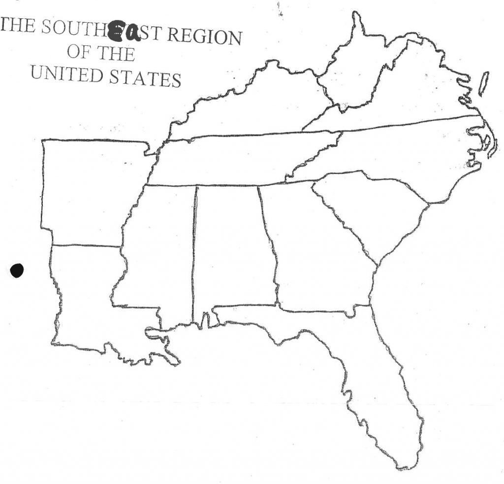 Map Of Southeast Us States - Maplewebandpc - Southeast States Map Printable