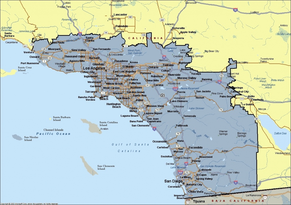Map Of Southern California Cities   Andrewsteinhome Regarding Show - Show Map Of Southern California