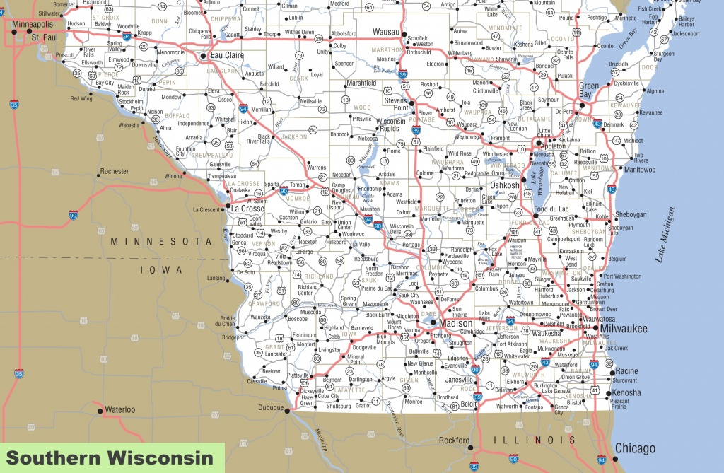 Map Of Southern Wisconsin - Map Of Wisconsin Counties Printable