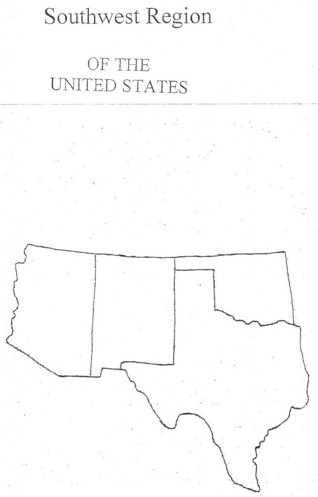 Map Of Southwestern States | Sitedesignco - Southwest Region Map Printable