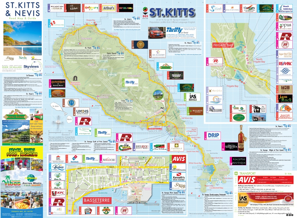 Map Of St. Kitts & Nevis - Caribbean Islands Maps And Guides - Printable Map Of St Simons Island Ga