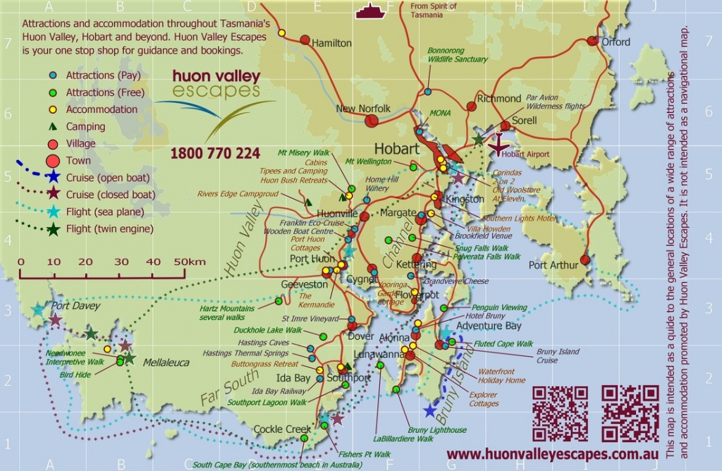 Map Of Tasmania Australia Hobart Printable Amanda Palmer East Coast - Printable Map Of Tasmania