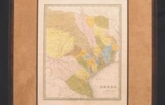 Map Of Texas: 1833,t. G. Bradford – Matted And Framed – – Framed Texas Map