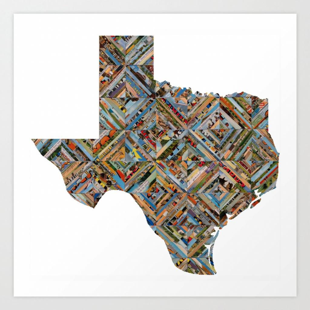 Map Of Texas Art Print - Map Of Texas Art