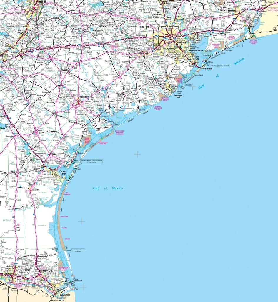 Map Of Texas Coast - Texas Gulf Coast Beaches Map