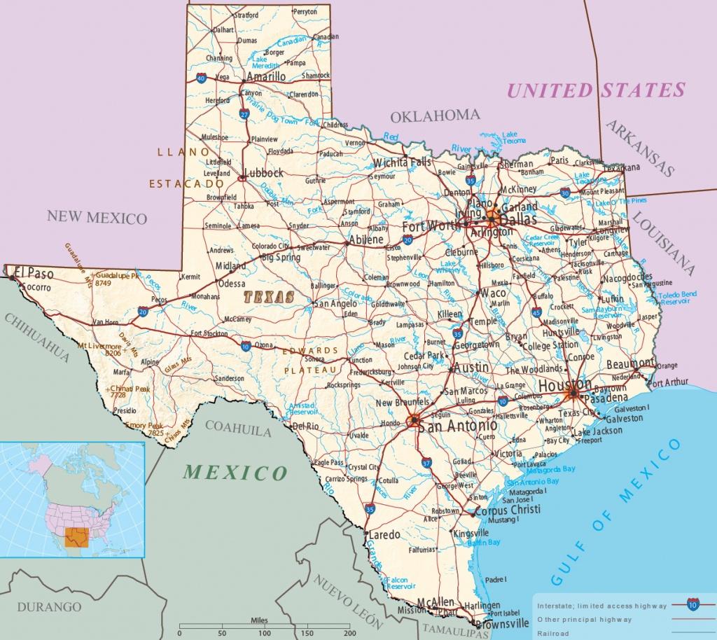 Map Of Texas - Multimodal - Ozona Texas Map