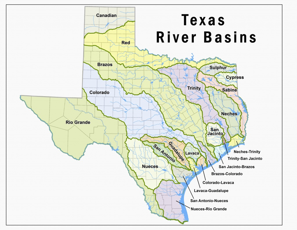 Map Of Texas With Rivers Map Of Colorado River Basin Secretmuseum - Colorado River Map Texas