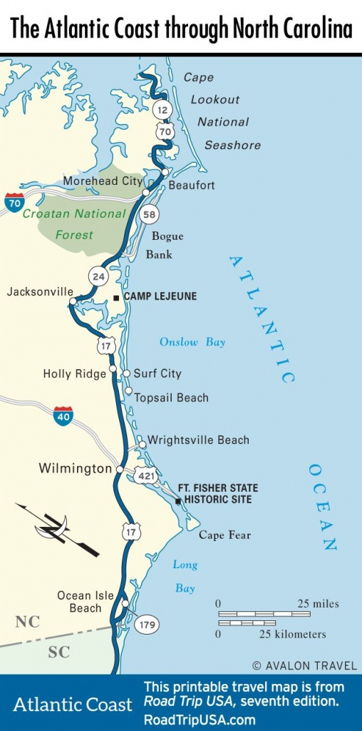 Map Of The Atlantic Coast Through North Carolina. | Maps - U.s. - Florida Atlantic Coast Map
