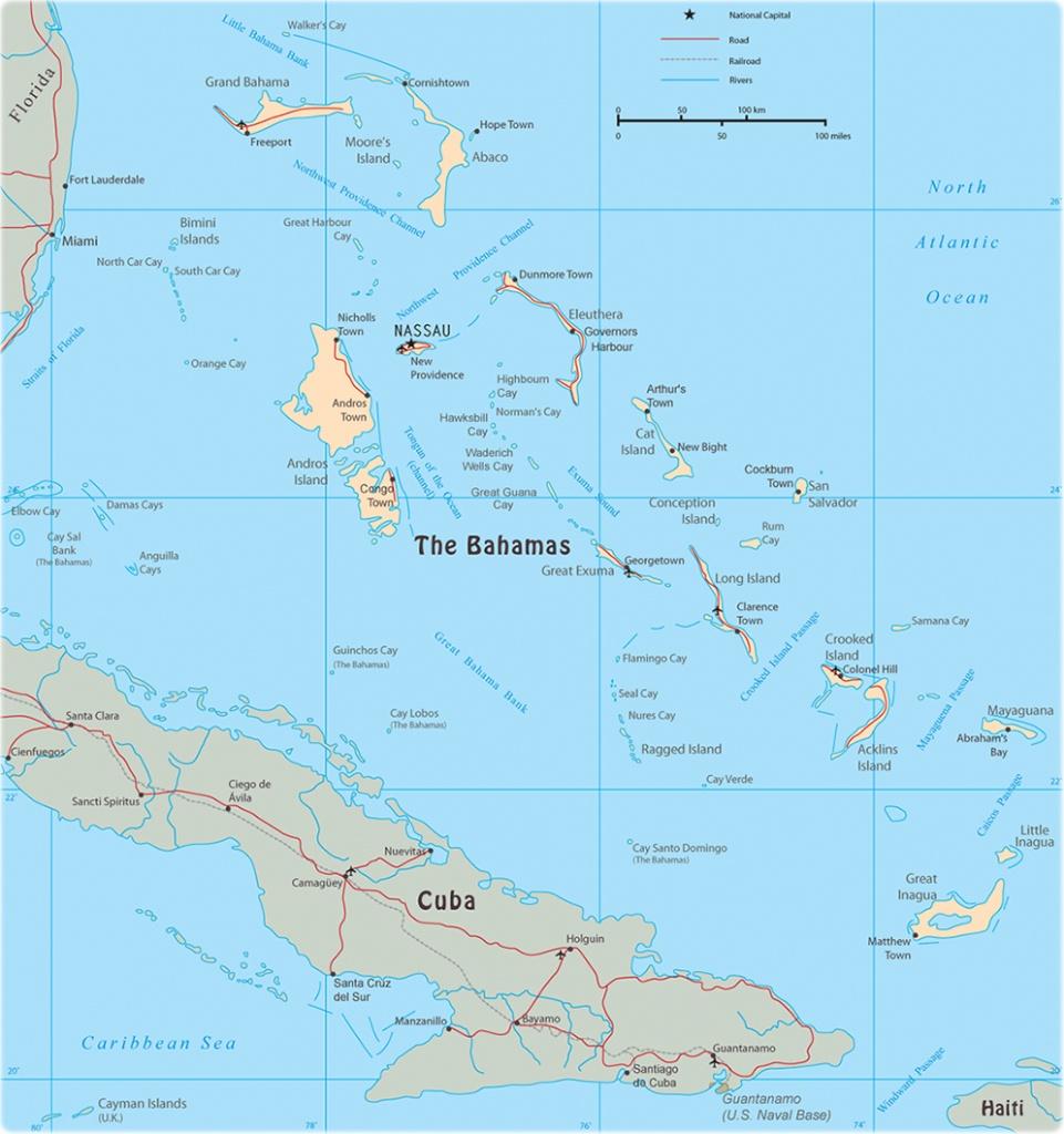 Map Of The Bahamas - Map Of Florida And Bahamas