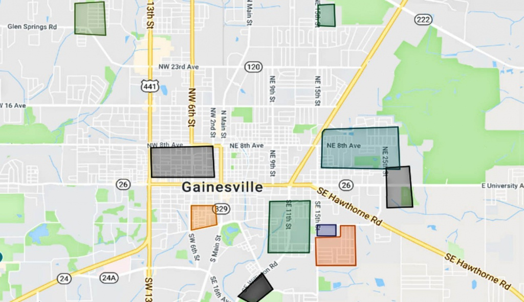 Map Of The Gainesville Florida Gangs And Hoods - Map Of Gainesville Florida Area