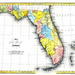 Map Of The State Of Florida, 1832 Ad   Where Is Pensacola Florida On A Map