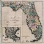 Map Of The State Of Florida, 1882   Historic Florida Maps