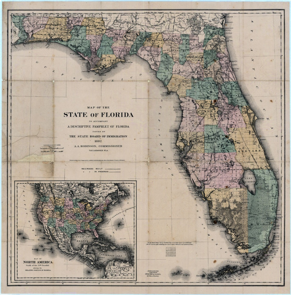 Map Of The State Of Florida, 1882 - Historic Florida Maps