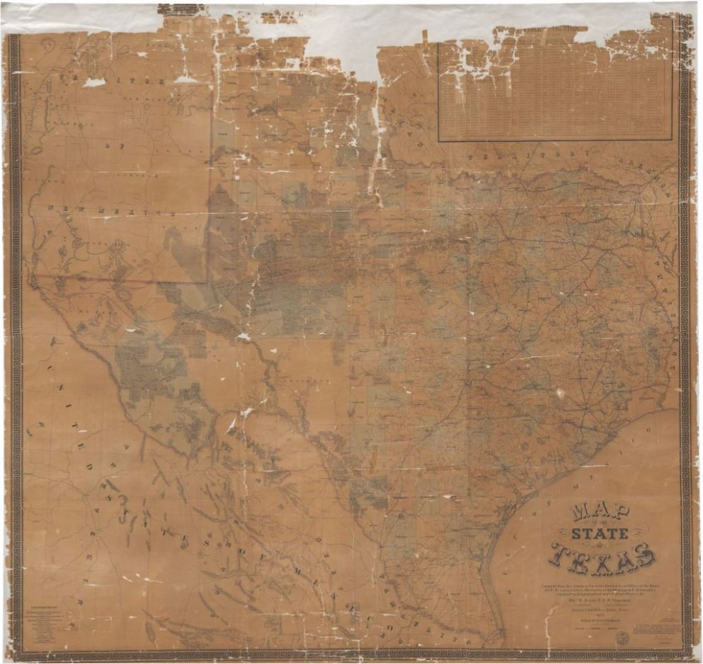 Map Of The State Of Texas, 1879 – Texas General Land Office – Medium - Texas Land Office Maps