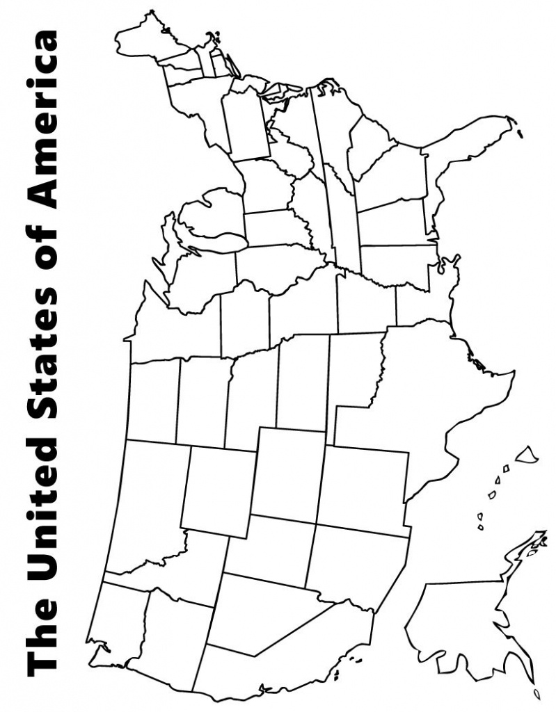 Map Of The Usa Coloring Page | Kids | Us Map, Map Worksheets, Map - Printable Us Map For Kids