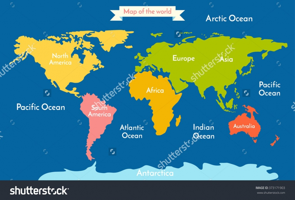 Map Of The World Continents - World Wide Maps - Printable Map Of Oceans And Continents