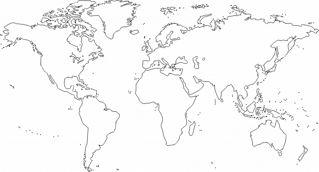 Map Of The World For Kids Black And White And Travel Information - World Map Black White Printable