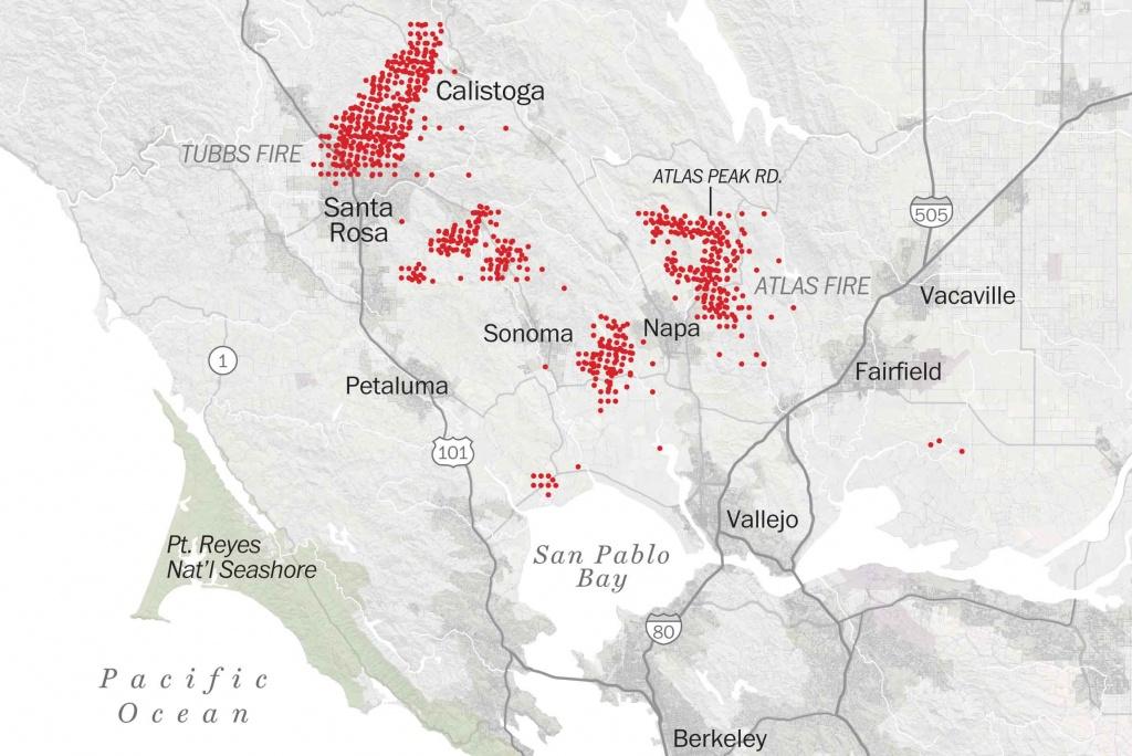 Map Of Tubbs Fire Santa Rosa - Washington Post - Fire Map California 2017