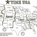 Map Of Us With Time Zones   Sitedesignco   Printable Usa Map With States And Timezones