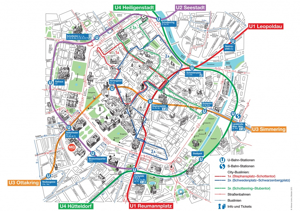 Map Of Vienna Tourist Attractions, Sightseeing & Tourist Tour - Printable Tourist Map Of Vienna