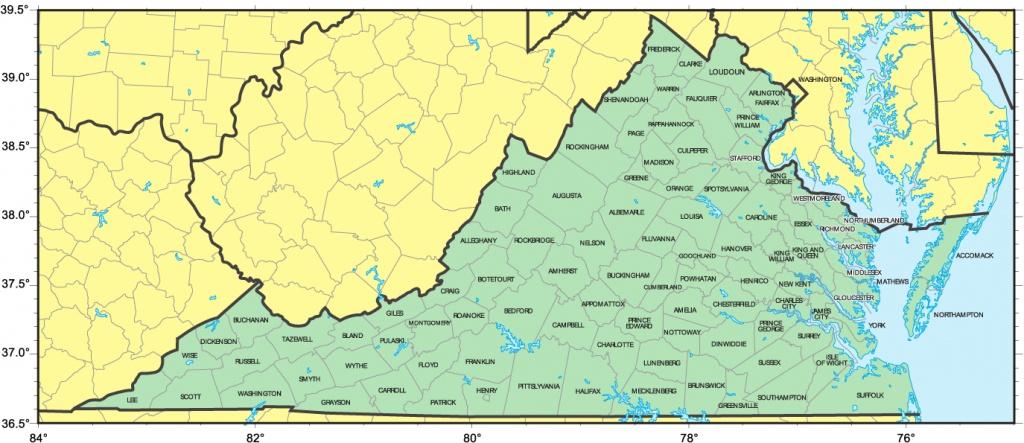 Map Of Virginiacounty | Autobedrijfmaatje - Virginia County Map Printable