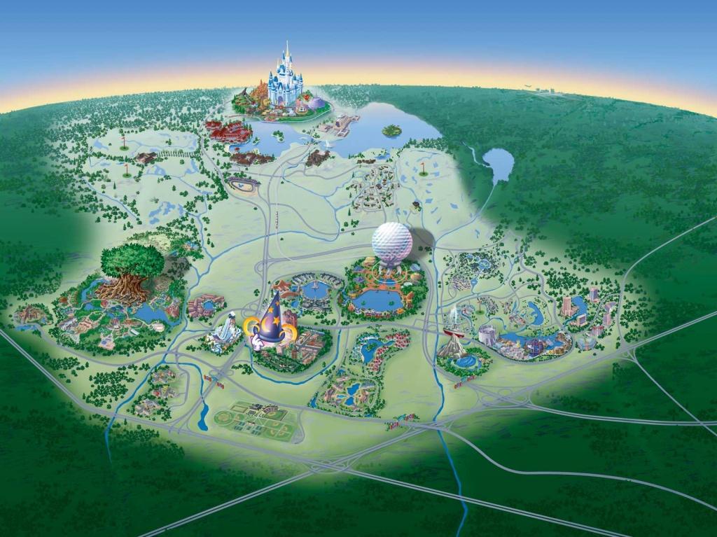Map Of Walt Disney World Resort - Wdwinfo - Map Of Disney Florida Hotels
