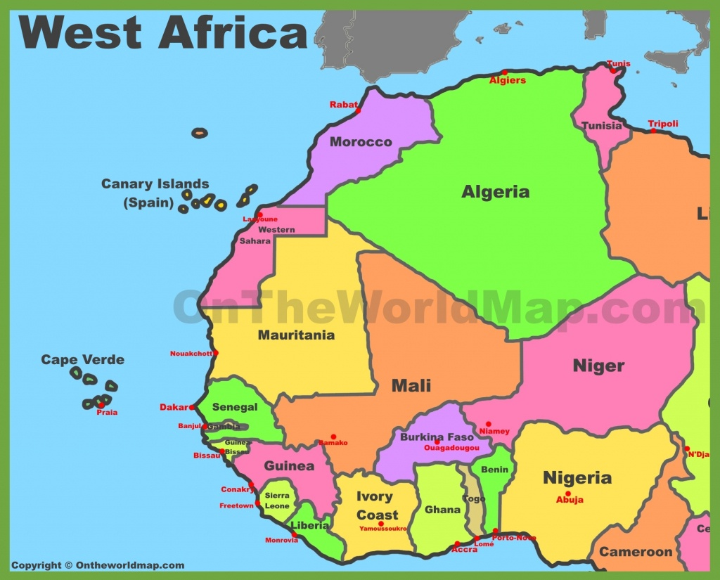 Map Of West Africa - Free Printable Map Of Africa With Countries
