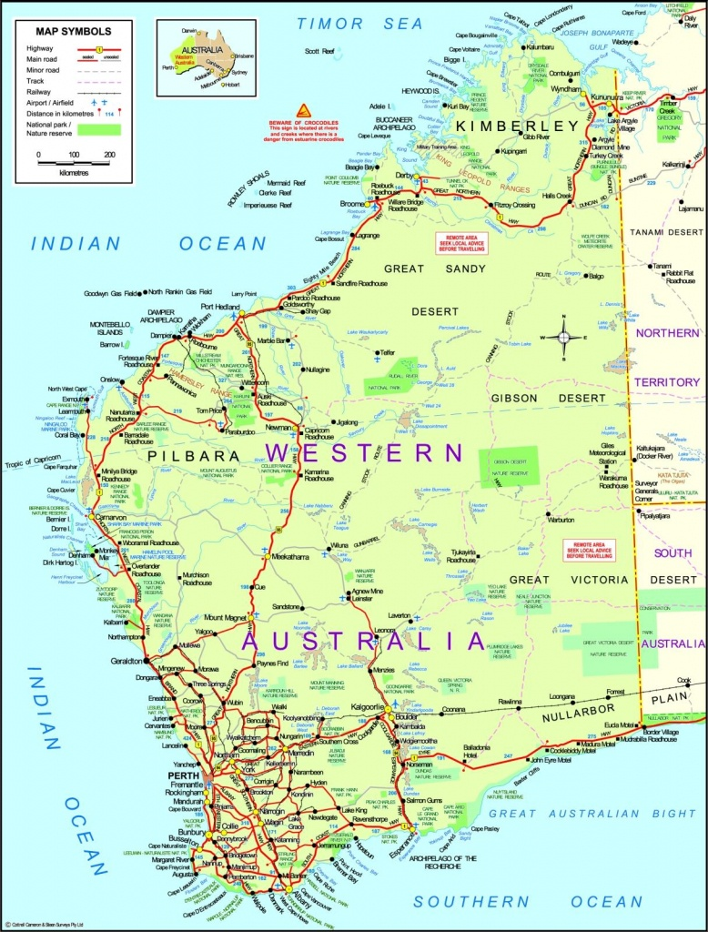 Map Of Western Australia Printable Map Of Western Australia - Printable Map Of Western Australia