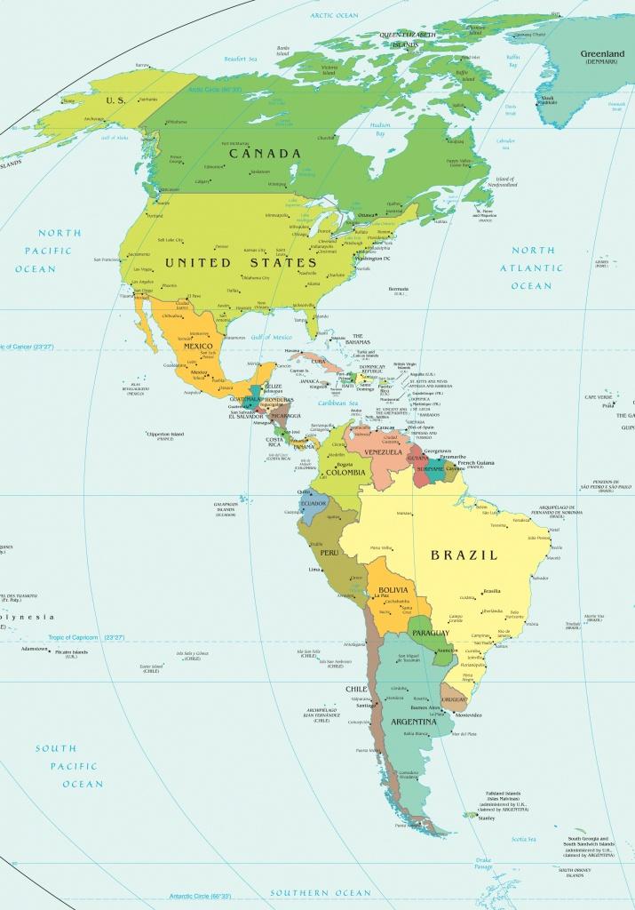 Western Hemisphere Map Printable