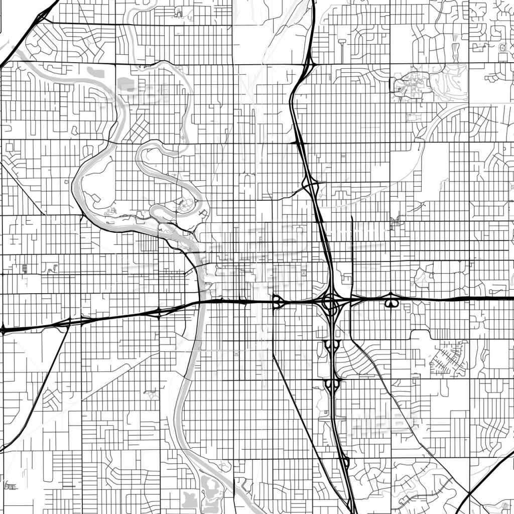 Map Of Wichita, Kansas | Hebstreits Sketches - Printable Street Map Of Wichita Ks
