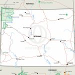 Map Of Wyoming Defined Plus   Printable Map Of Wyoming