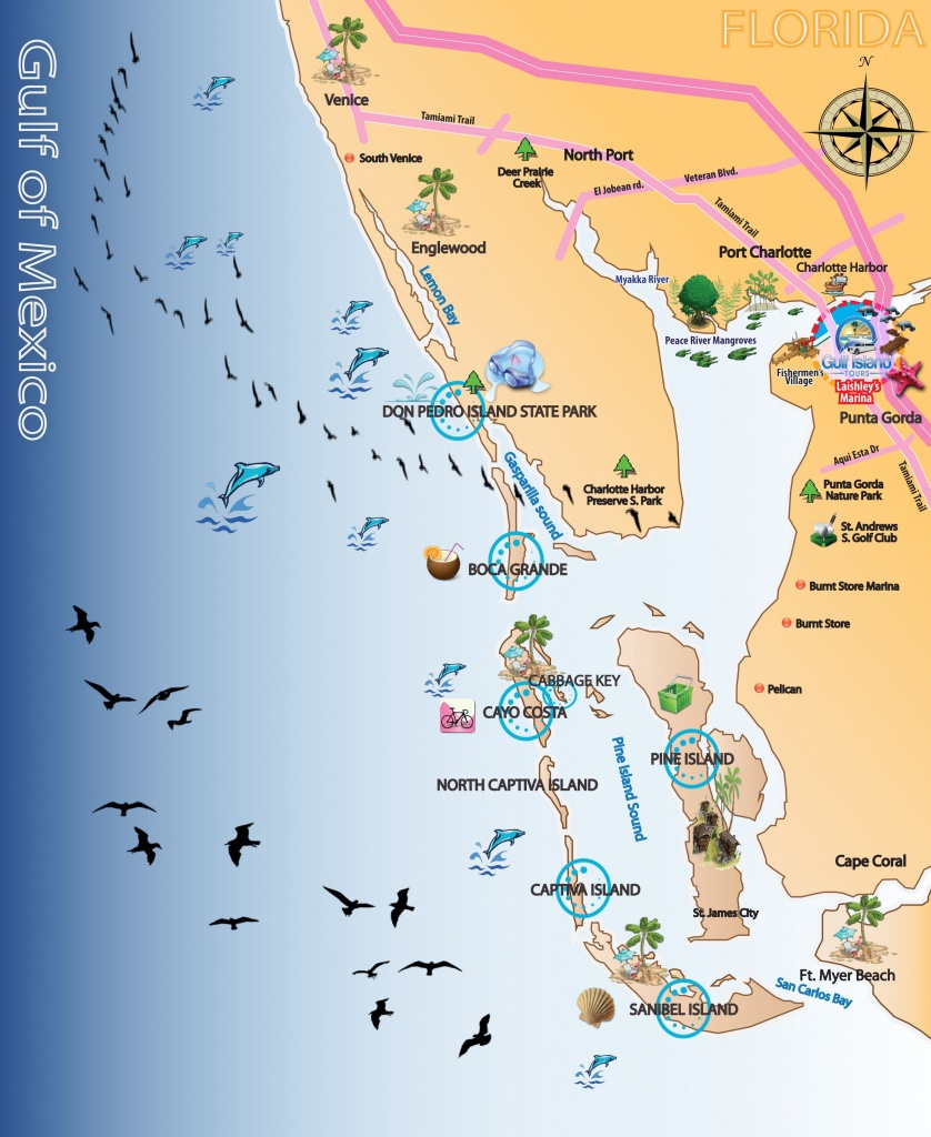 Map Out Your Next Vacation In The Florida Gulf!   Gulf Island Tours - Florida Vacation Map
