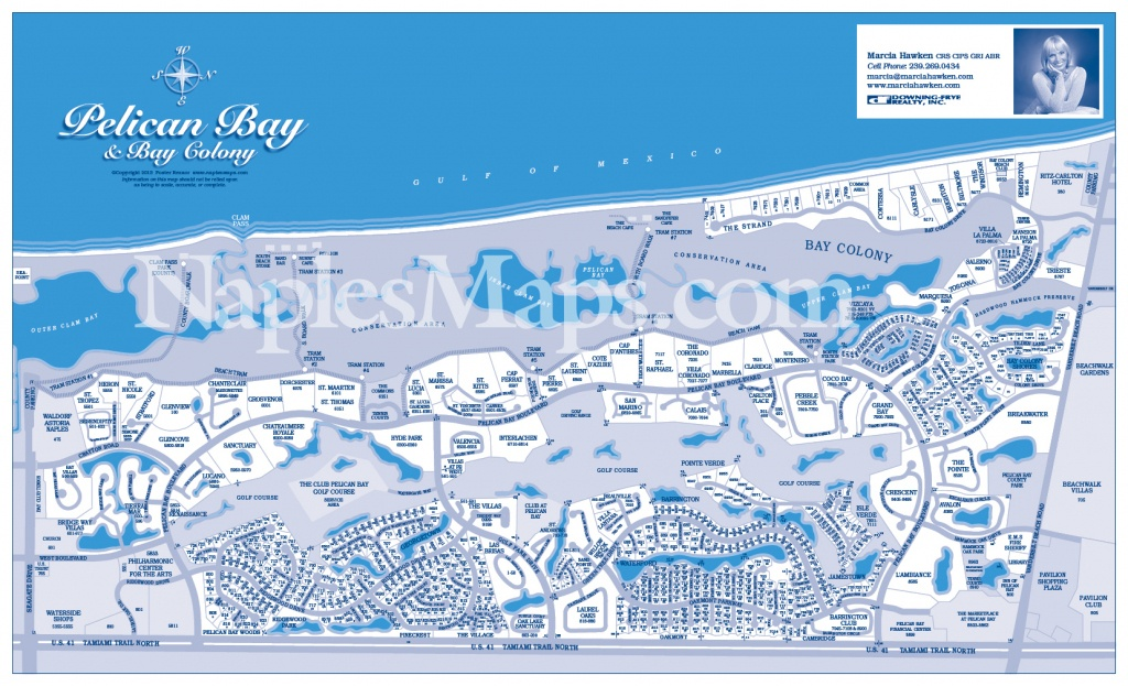 Map Pelican Bay (Customized Sample) Naples Florida - Pelican Bay Florida Map