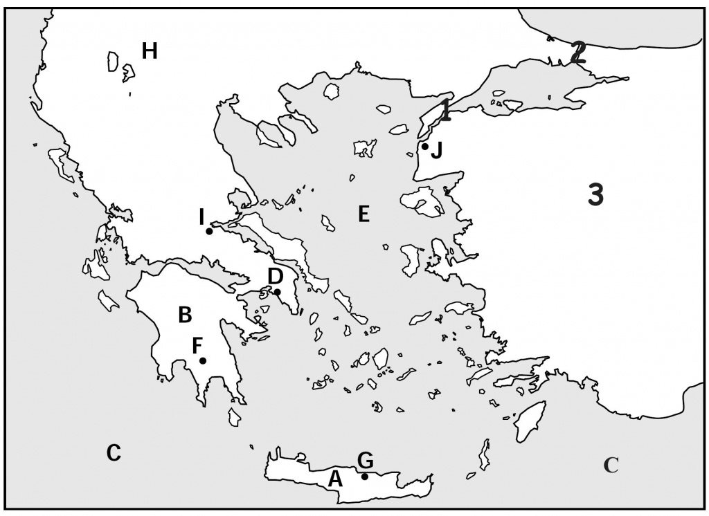Map Quiz, Ancient Greeks For Kids | Homeschooling | Map Quiz, Greece - Outline Map Of Greece Printable