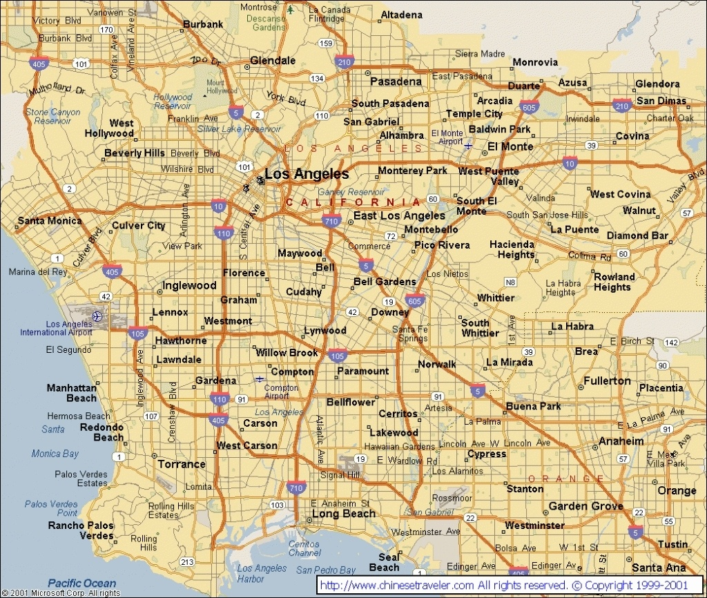 Map Reference. Map Of Los Angeles California Area – Reference In Map - Map Of Los Angeles California Area