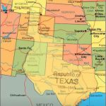 Map Showing Current Usa With The Republic Of Texas Superimposed   King Ranch Texas Map
