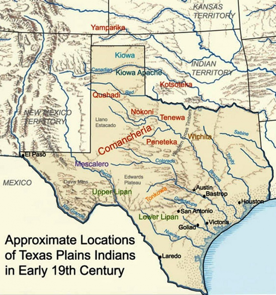 Map Showing The General Location And Dispersal Of Various Native - Native American Reservations In Texas Map