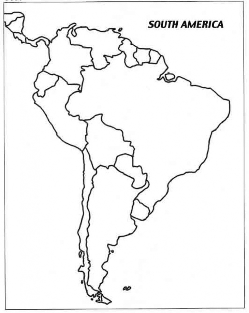 Map South America Blank Printable - Capitalsource - Printable Map Of South America