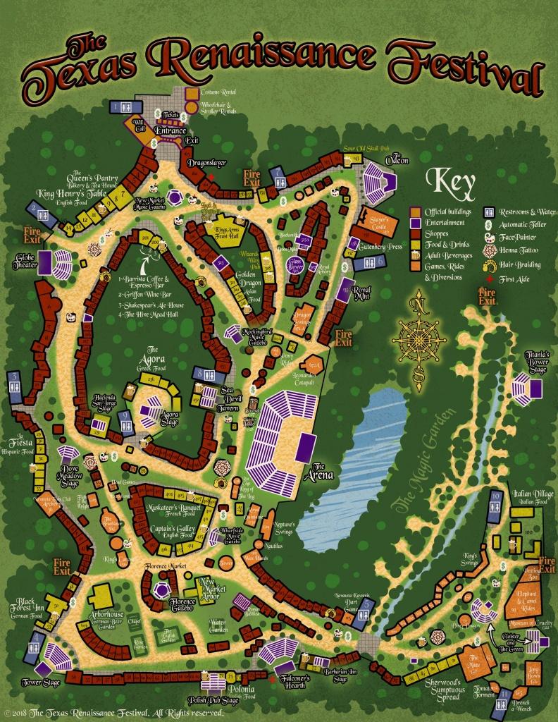 Map – Texas Renaissance Festival - Texas Renaissance Festival Map
