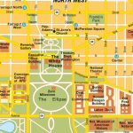Map Washington Dc (City Center), District Of Columbia, Usa. Central   Washington Dc City Map Printable