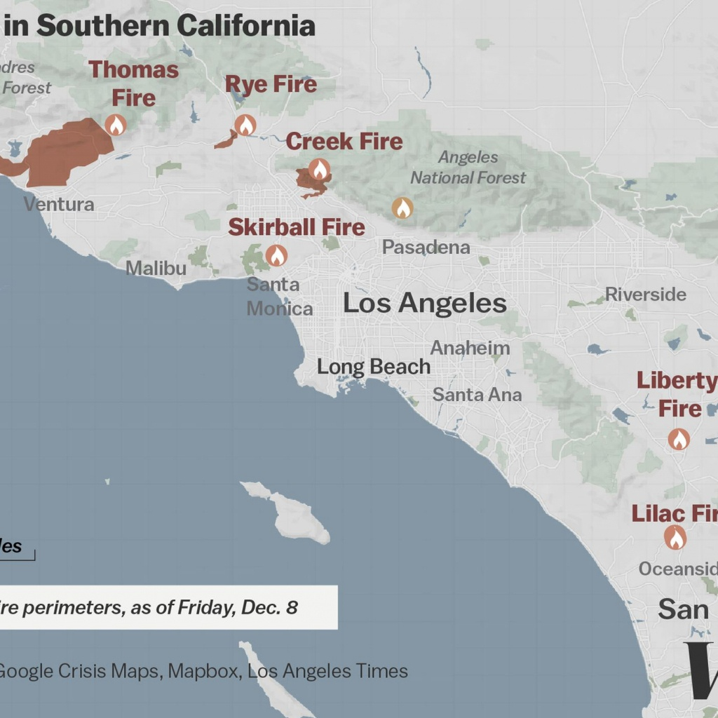 Map: Where Southern California's Massive Blazes Are Burning - Vox - Riverside California Fire Map