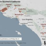 Map: Where Southern California's Massive Blazes Are Burning   Vox   Show Me A Map Of California Wildfires