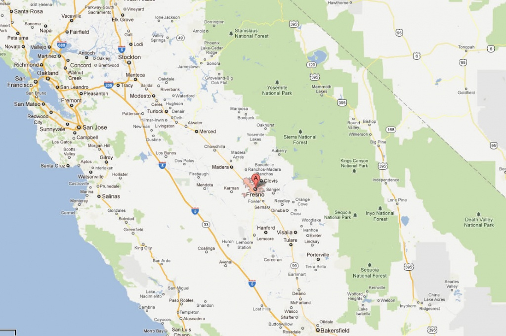 Mapa De Fresno California | Sitedesignco - Mcfarland California Map